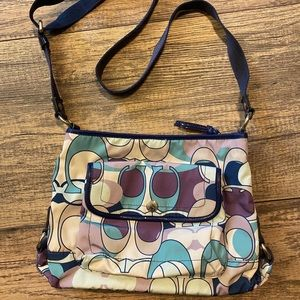 Multi-colored Coach crossbody bag